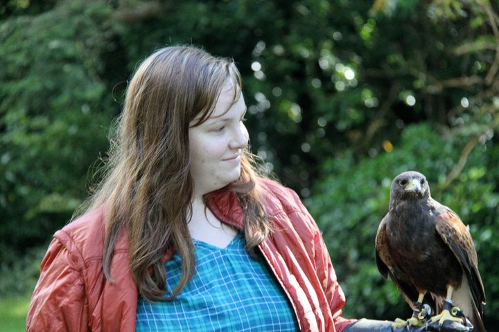 Me the day after this realization. That's a hawk. I feel pretty cool in this picture...