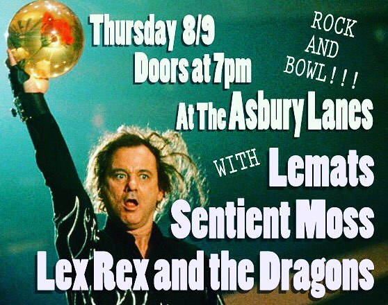 Here we gooooo!!! This Thursday night we will be joined by the @sentient_moss boys, @lexrexandthedragons and @colton.kayser at the @asburylanes to start off another fabulous summer of 2018 weekend. Join us and witness Scott doing a reverse-backflip-swan-dive off the stage monitor!!!