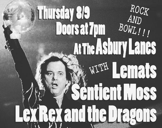 We're on tonight @ 9er. Rock n' bowl, drink n' dance with us @asburylanes!!!