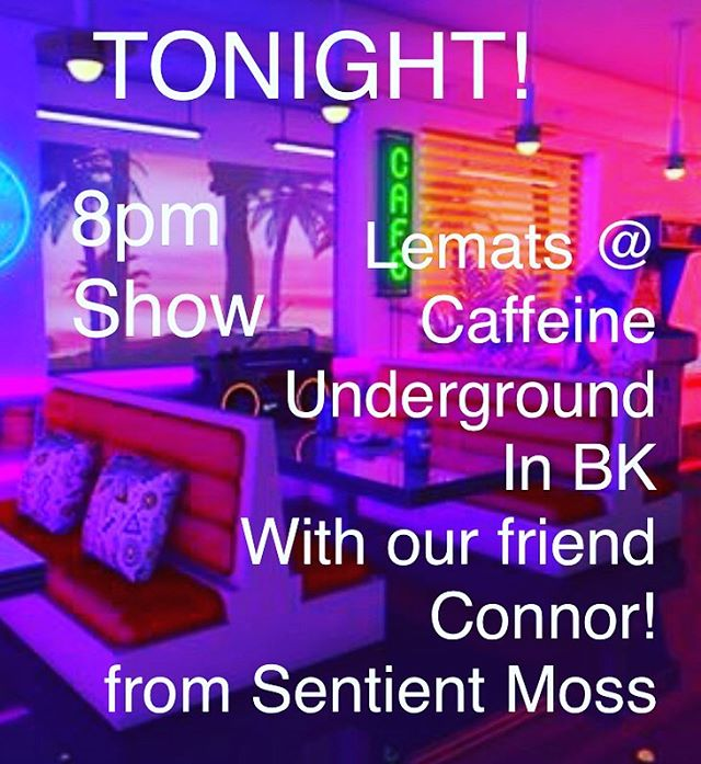Let's go!!! We're on @caffeineunderground tonight at 9pm with our baby boi @mcarthur.connor from @sentient_moss