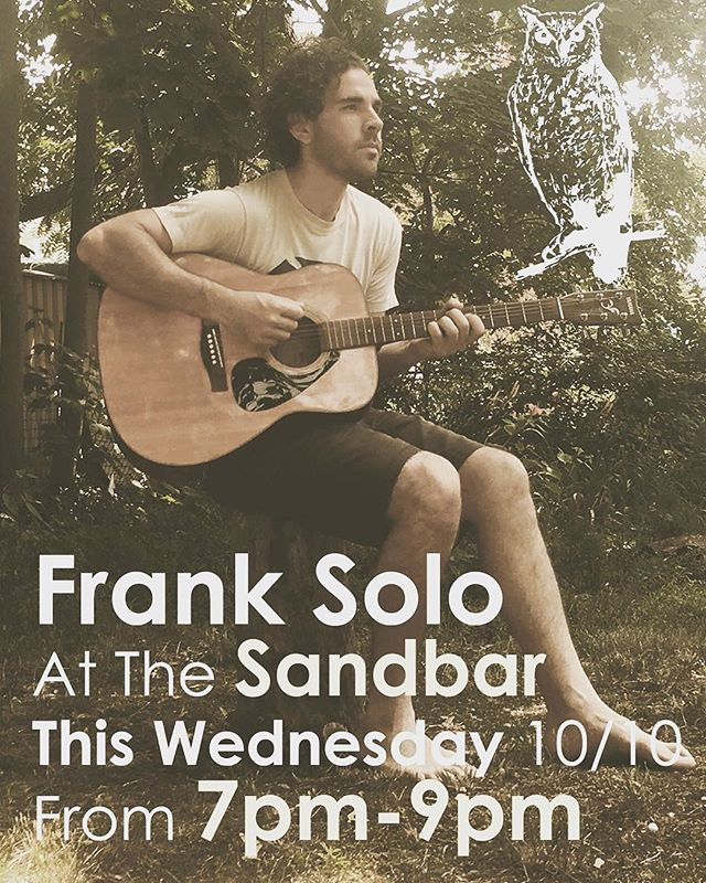 Catch Frank tonight acoustic at the Sand Bar in Brielle from 7-9 breezin' through some Lemats tunes and some solo numbers as well!