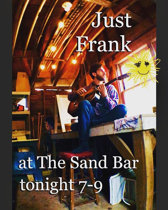 Check out Frank tonight at the Sand Bar in Brielle doing the acoustic thang! Good food, warm vibes and tasty libations 😋