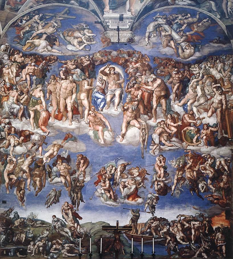 El juicio final de Miguel Ángel, la Capilla Sixtina, Roma
