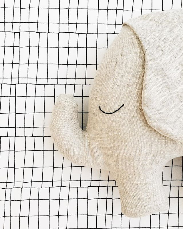 sleepy morning feels brought to you by our linen elephant.