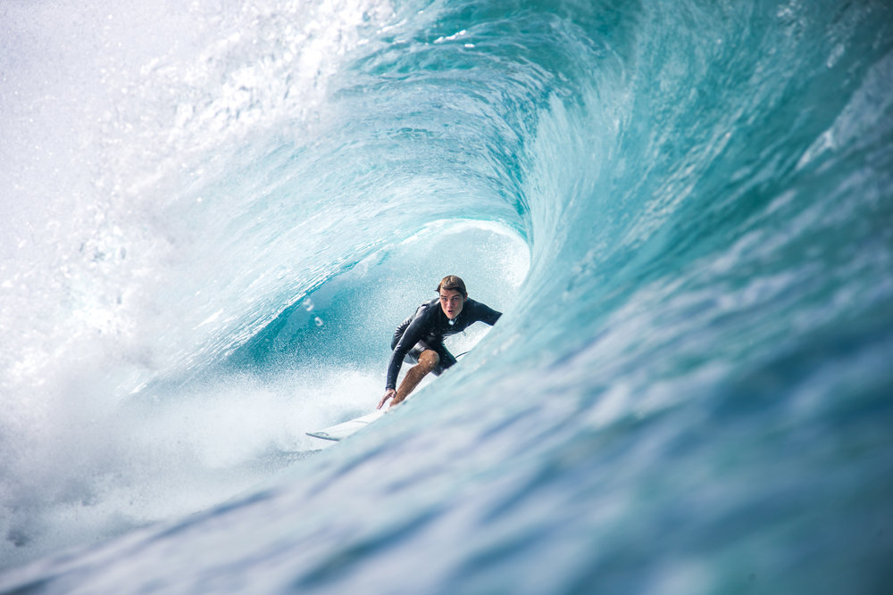 surfing pipeline water photo