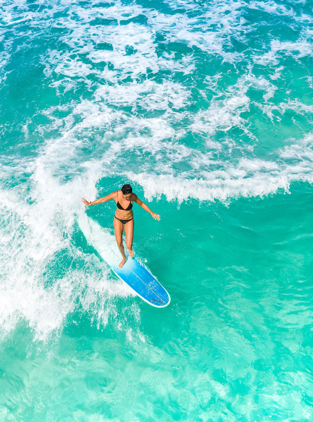 Beautiful Longboarding North Shore Oahu