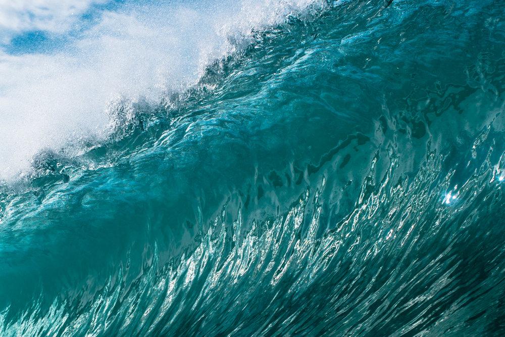 macro photography hawaiian wave