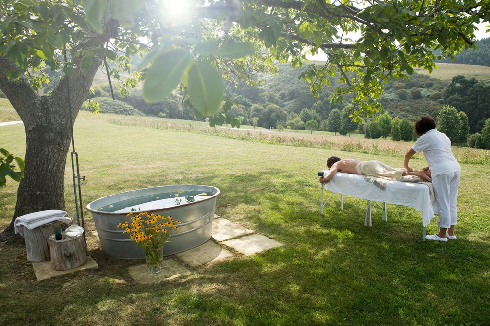 Enjoy a relaxing massage in the beautiful grounds