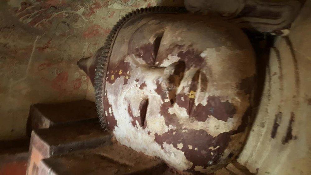 Myanmar Stone Buddha head www.onemorestamp.com