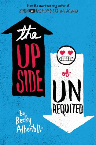 The Upside of Unrequited by Becky Albertalli cover