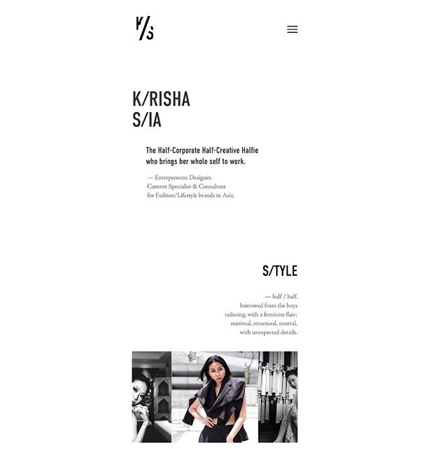 Krisha from @krishasiacom seriously BLEW ME AWAY with her web design in partnership with @studio179hk 工作室💖 Go check out her gorgeous new portfolio.