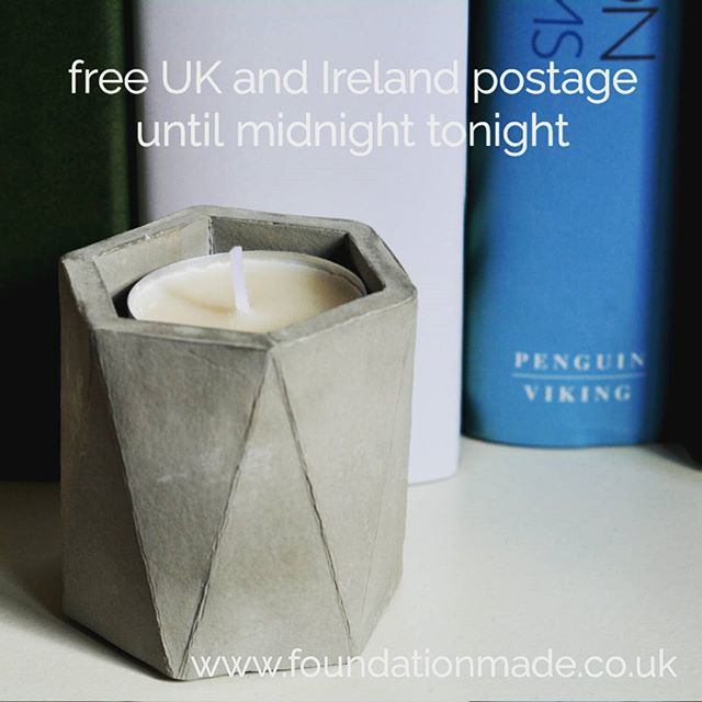 Our free postage offer ends at midnight tonight. Just use the code FREEPOST at checkout for free UK and Ireland postage. Just in time for Christmas!  #foundation  #concrete #madeinbelfast  #irishdesign #010 #freepostage  #foundationmade #concreteorigami