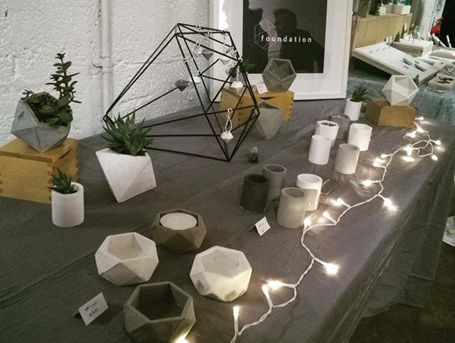 We're full of festive cheer and mince pies at tonight's Golden Thread Gallery Christmas Market! Thank you to all the lovely people who popped in. #foundation #madeinbelfast #christmasmarket #concreteorigami #foudationmade