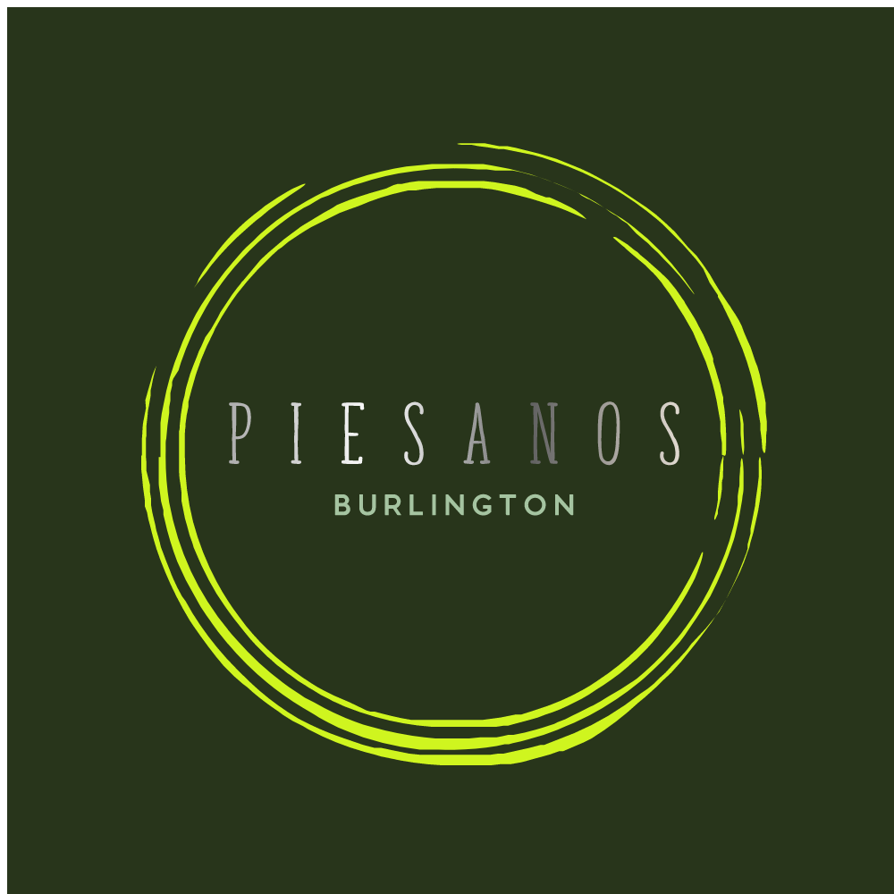 Piesanos Burlington - coming to the same location as the JUNIOR'S DOWNTOWN - Offering Artisan Pizza and Meditererrean Fare