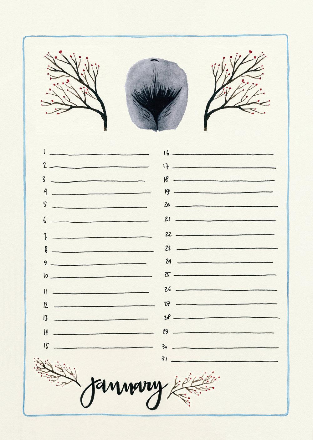 1. The Vulva Gallery Birthday Calendar January - 2018 (s).jpg