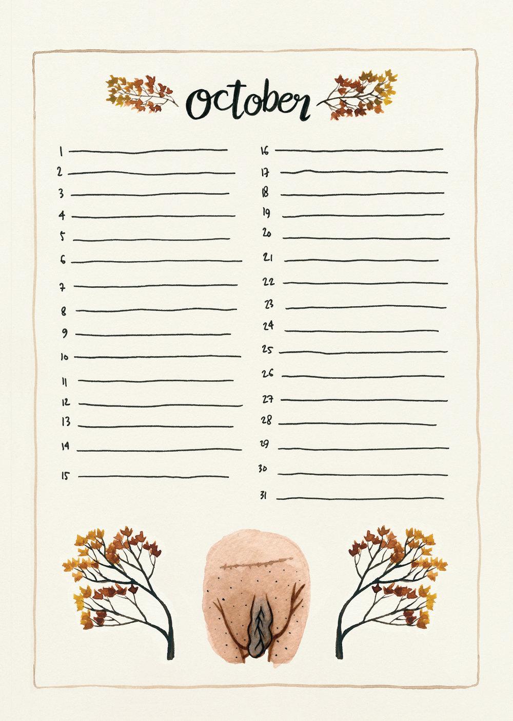 10. The Vulva Gallery Birthday Calendar October - 2018 (s).jpg