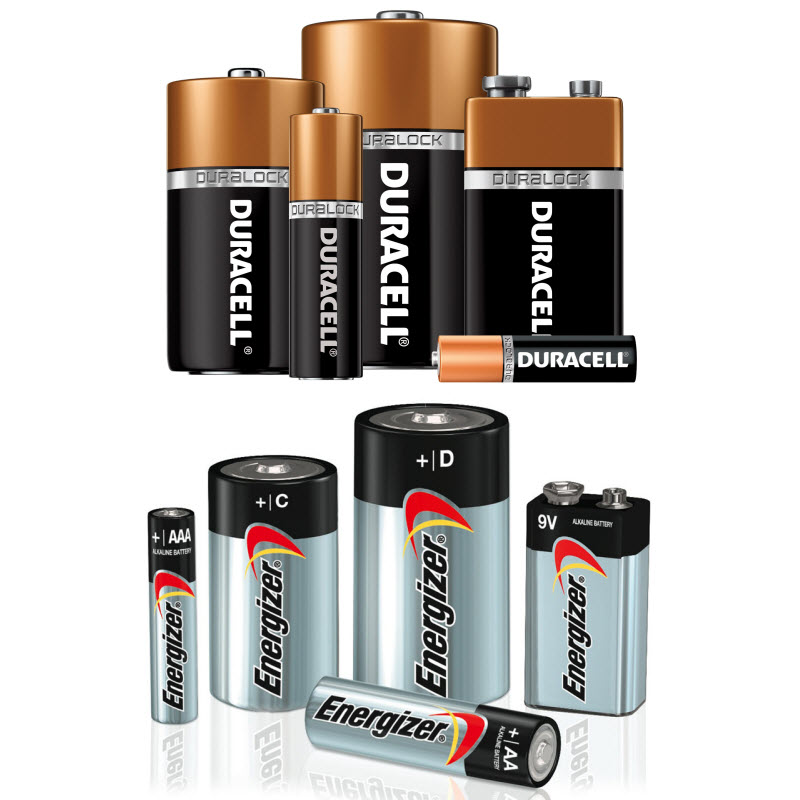 Duracell and Energizer Household Battery Packs - Don't forget to pick up batteries for all your gifts this season! We carry a variety of sizes to meet your needs. If you don't see it listed on the website, just call us and we will see if we can get it for you!AA, AAA, C, D, CR123 and more types!Ask about our rechargeable and lithium options as well!