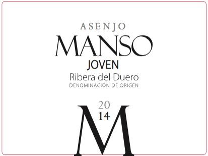 Asenjo & Manso Manso Joven Ribera del Duero 2014
