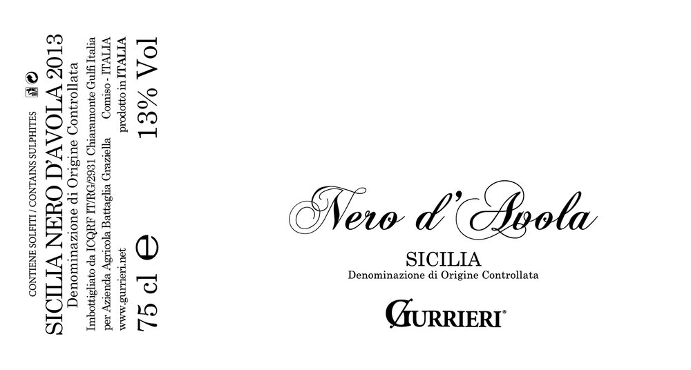 Gurrieri Nero d`Avola 2014