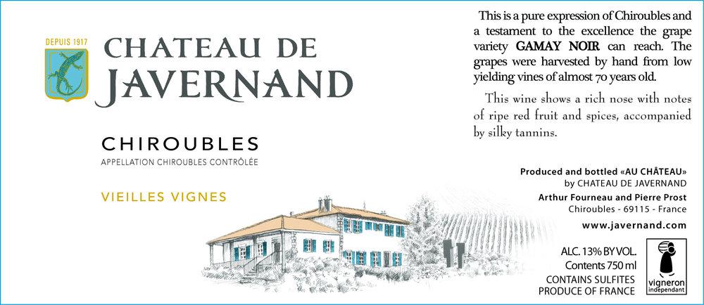 Javernand Chiroubles Vieilles Vignes 2014