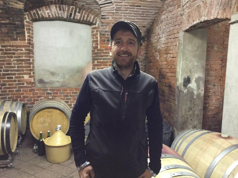 Fabio Zambolin in cellar