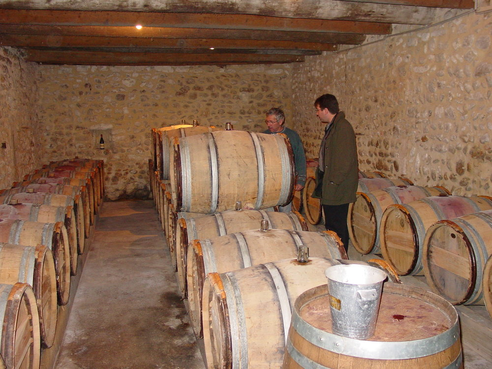 Barrel room Domaine de Servans.JPG