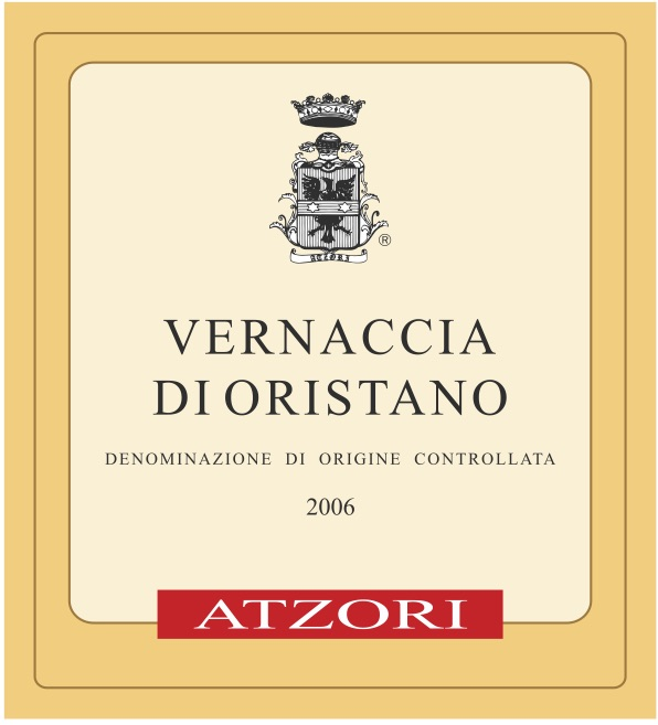 - Atzori Vernaccia di Oristano 2006GRAPES: 100% VernacciaPROFILE: This is a golden color wine with an amber hue, which becomes even richer as it ages. The bouquet is intense and persistent, delicate and floral with a clear hint of almonds and a scent of toasted hazelnuts as the wine matures. Distinct notes of sea salt and a surprising acidity round out the finish.GRAPE GROWING: Non-certified organic farming. Manual harvesting.WINEMAKING: 30-40 hectoliters per hectare. Spontaneous fermentation. Soft pressing. Temperature controlled fermentation. Aged under the flor in oak and chestnut until the flor dies. It is then blended with other batched from that vintage and aged for a total of 10 years. No fortification is used, the alcohol rises naturally through evaporation.An open bottle will last for months.Stats: Alc: 15.1 / PH:3.49 TA: 5.7 g/L  RS: 0.8 g/LSulfur: 45 ppm at bottling, 3 ppm freeSoil: Alluvial, sand, slightly loamyAltitude:10m (32ft)Vineyard Age25-60 yearsPairing: Hard cheese, Jamon, Sardines, Anchovies, Olives, Mushrooms, Pork Rilletes Cuisines: Spanish, Italian, Mexican