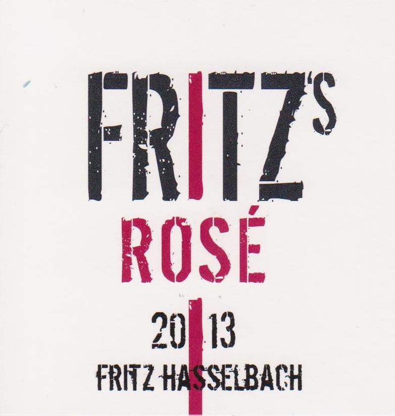 - Fritz's Dry Rose 2017A blend of Portugieser (an ancient grape variety and the third mostly widely planted red variety in Germany), Pinot Noir and Pinot Meunier (the grape most closely associated with Champagne) from grapes grown around the Gunderloch estate in the Rheinhessen. 12% alcohol and approximately 5 g/l of RS. This delicious dry rosé was made by Johannes Hasselbacch of Gunderloch.  The 2017 Fritz's Rosé has a lovely pale salmon color, a lovely nose of raspberry, currant and strawberry, and a medium body with bright acidity. A great value and a great picnic wine.
