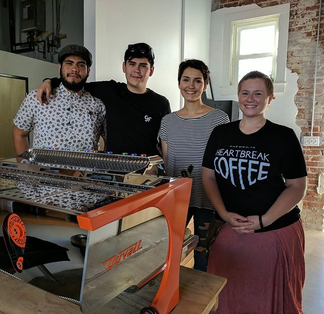 Wrapped the west coast demo tour with the awesome crew from @black_ring_coffee.  Had a blast sharing how flow rate technology makes it easy to bring out the best in any coffee. Thank you for your hospitality: love the build out!
