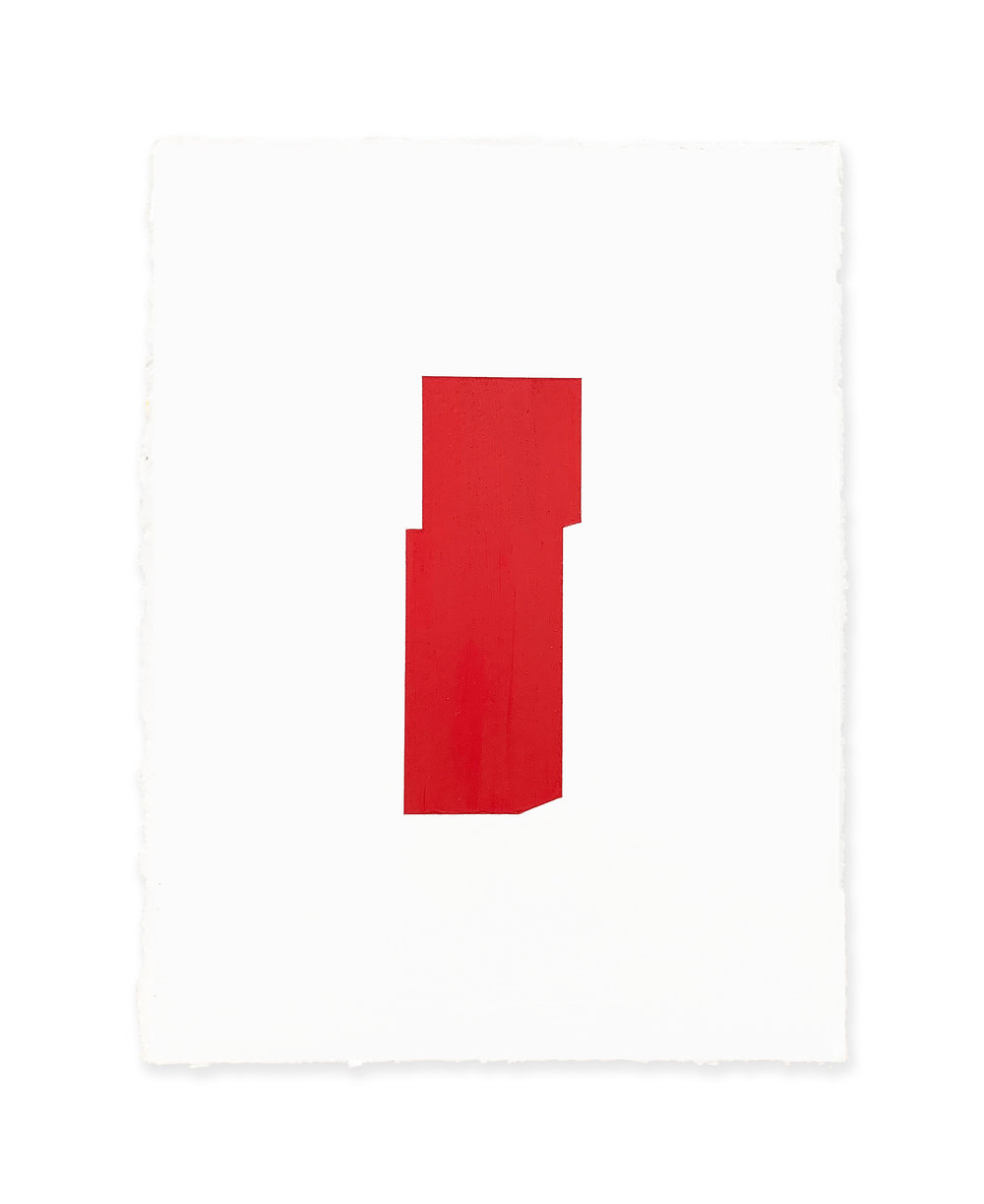 White w/red