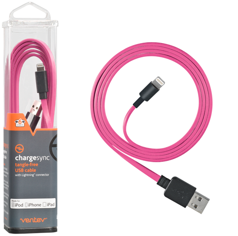 Ventev Chargesync Apple Lightning cable pink 6ft.png