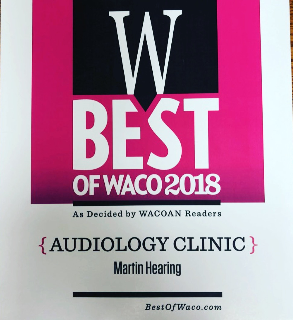 Martin Hearing voted as Best Audiology Clinic by Wacoan® | Waco's Magazine™ -