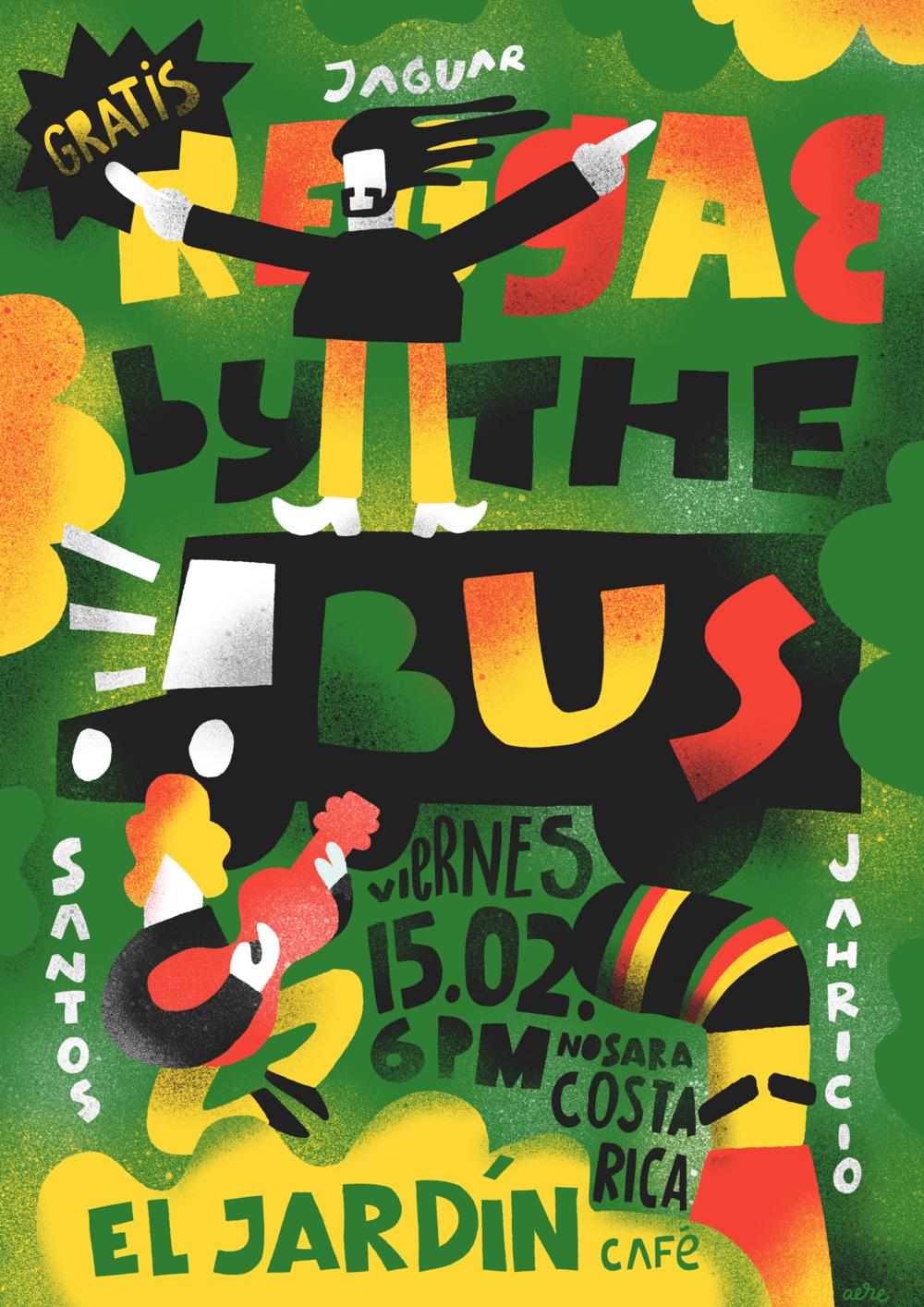 El Jardin Nosara reggae poster Patrick Aere