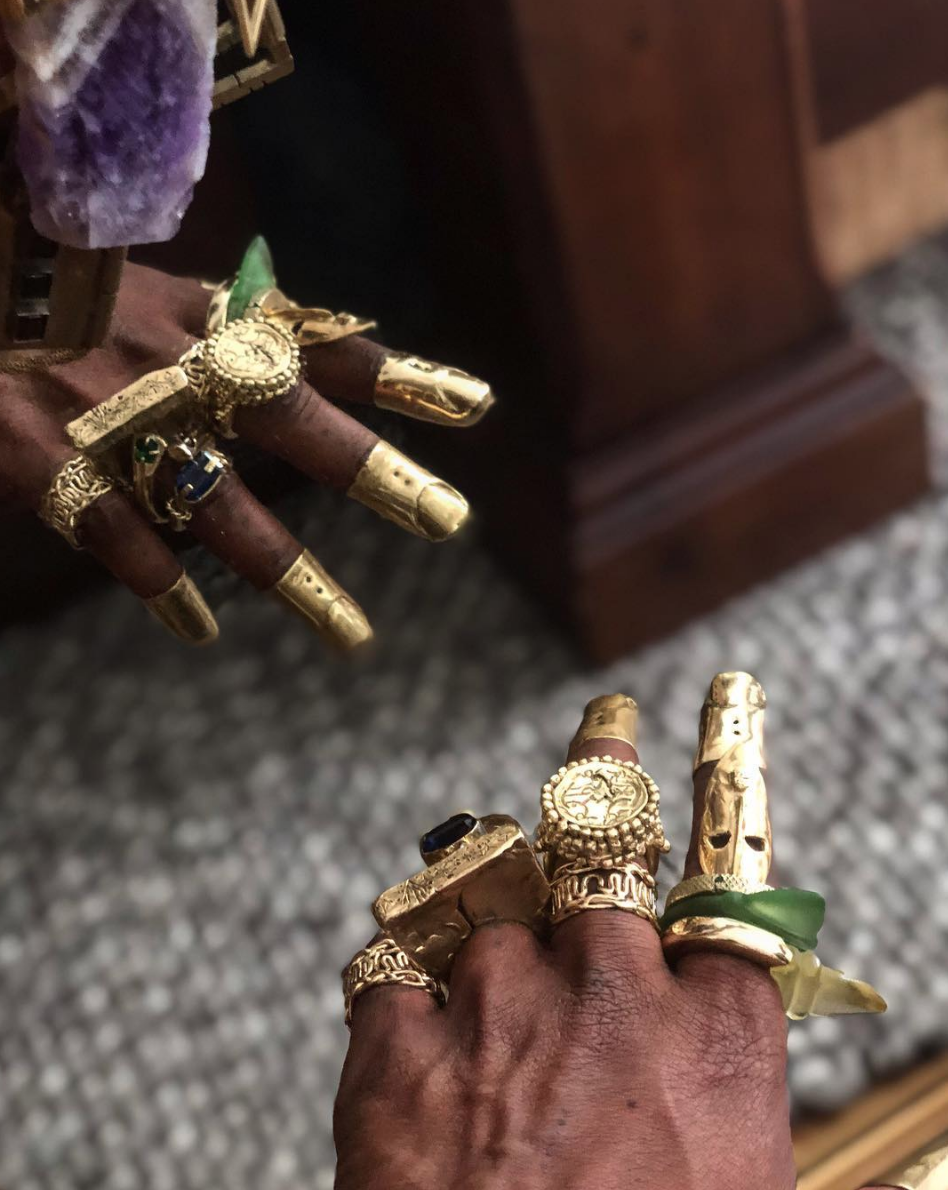 L'Enchanteur Gold and Stone Rings