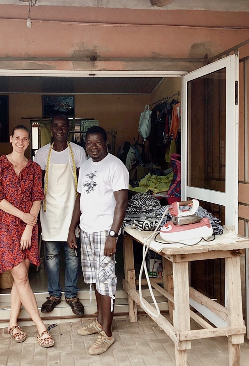 NANA ABOAGYE - is our batik dyer and he also works for other well renowned brands worldwide. Nana is a passionate specialist in colors and patterns, he brings our design ideas on fabric.