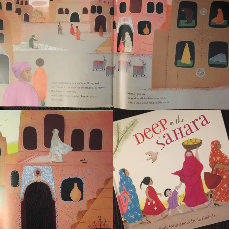 I love the illustrations in this book- colorful and happy.