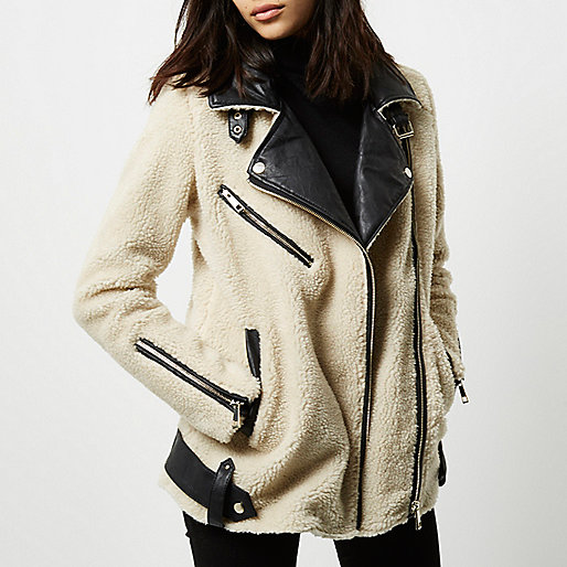 Aviator Coat | River Island
