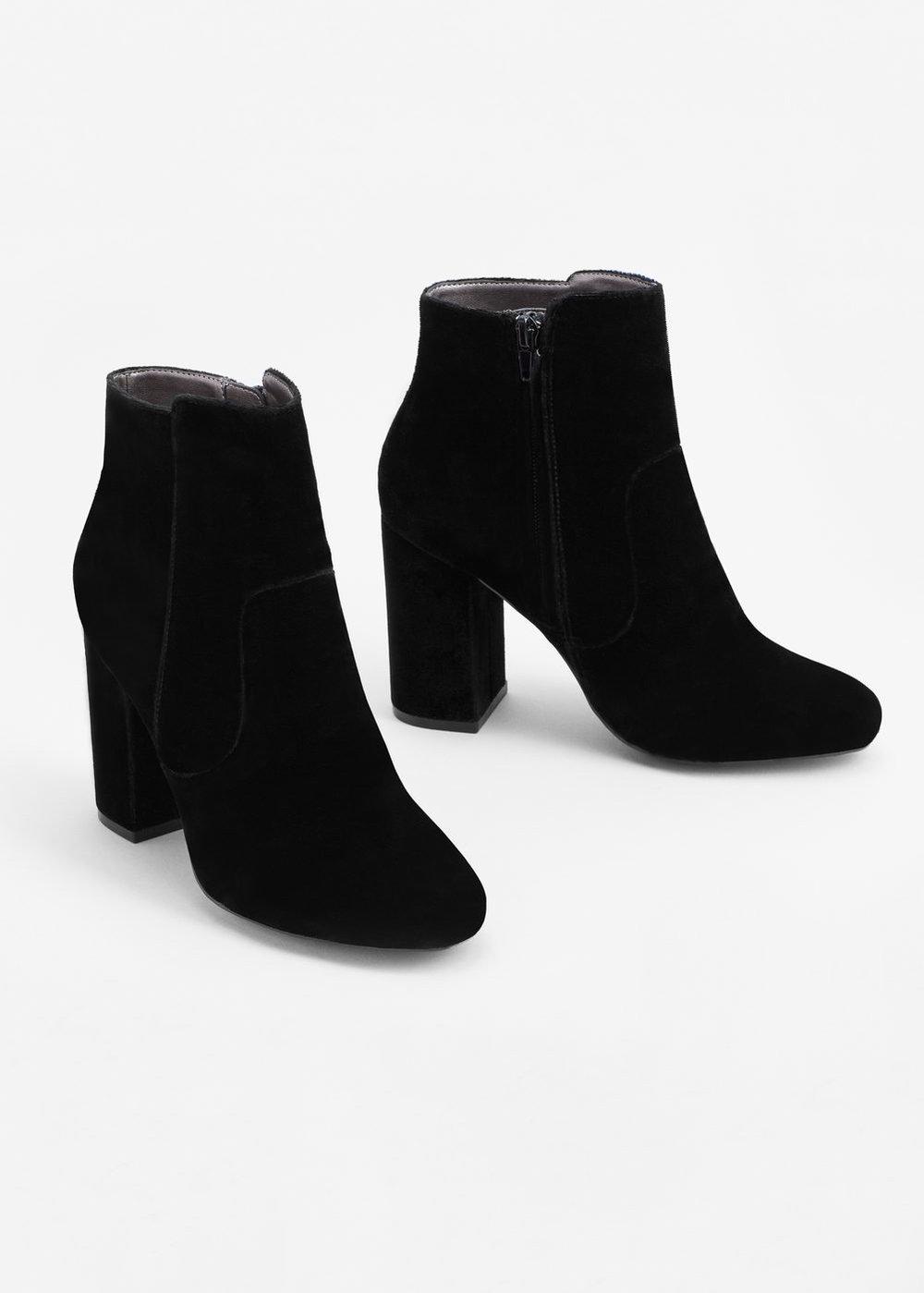 Velvet boots | Mango