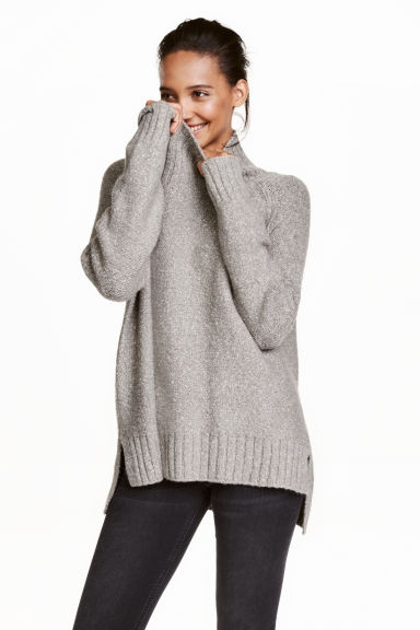 High Neck Sweater | HM