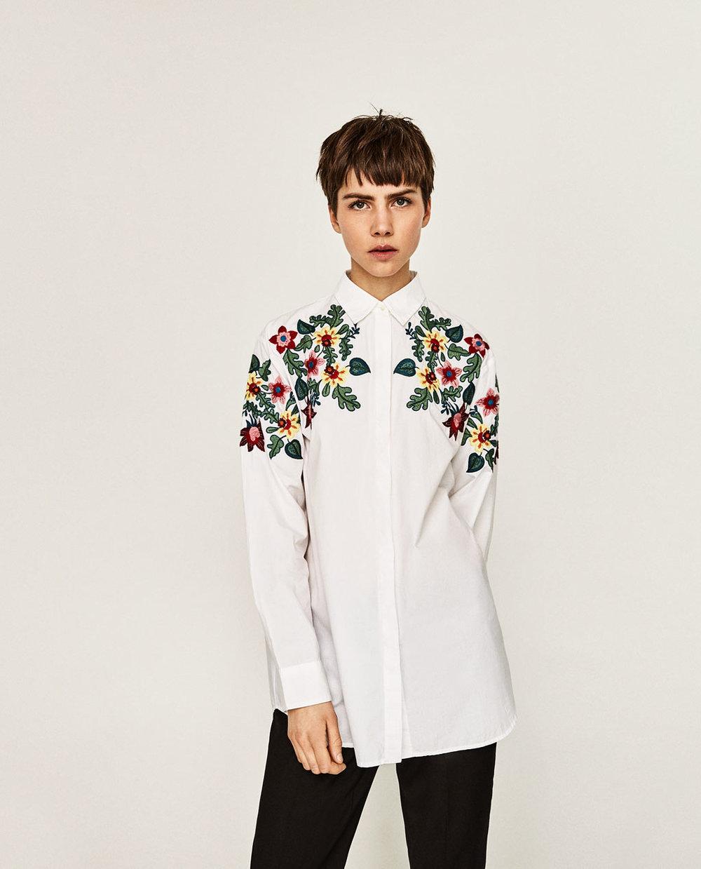 Camisa floral oversize