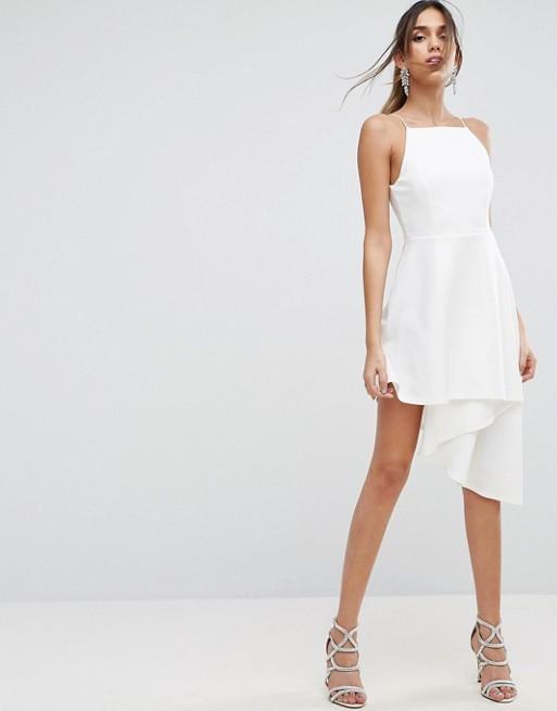Vestido Asimetrico Blanco