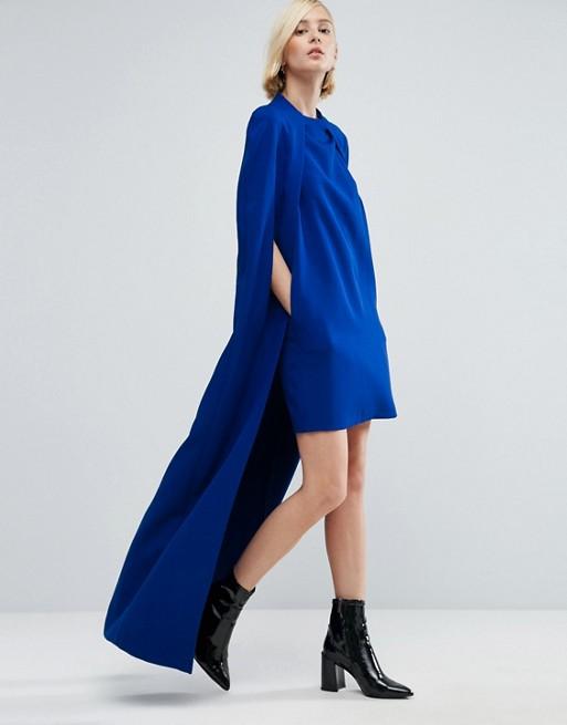 Vestido Asimetrico Azul