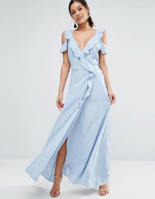 Vestido Azul Pastel