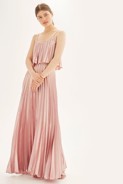 Vestido Plisado Rosado