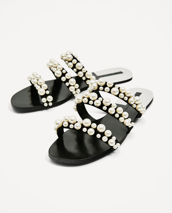 Zara Pearls Sandals