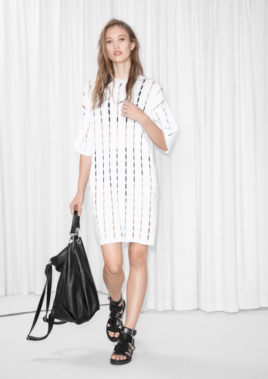 White dress cutouts
