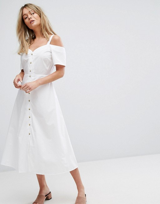 Off shoulders white dress