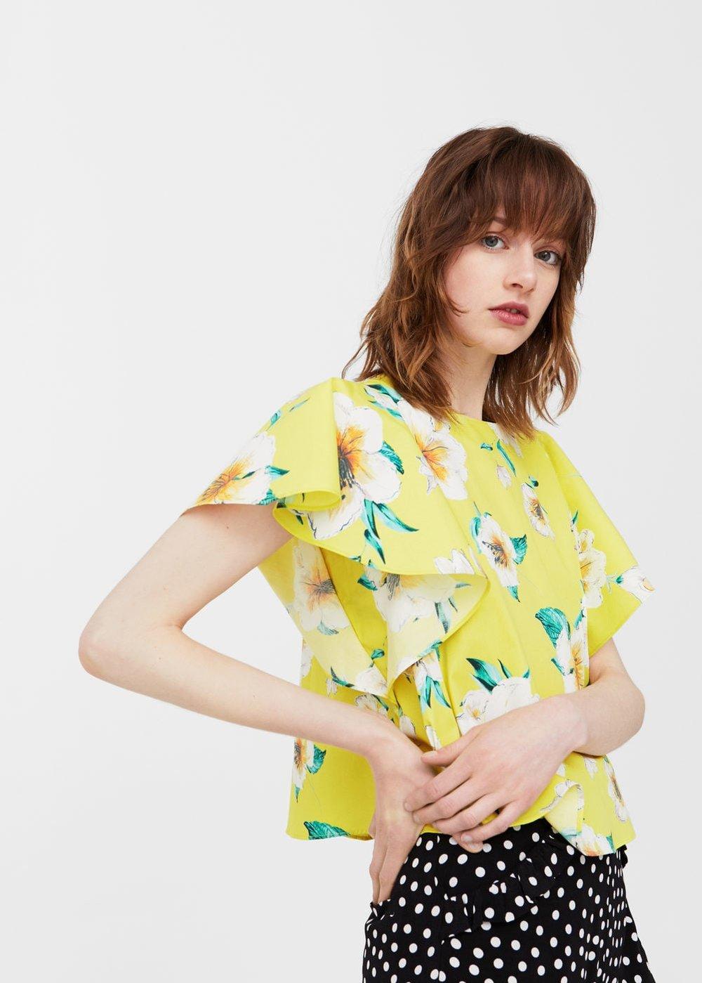 Yellow flowers shirt