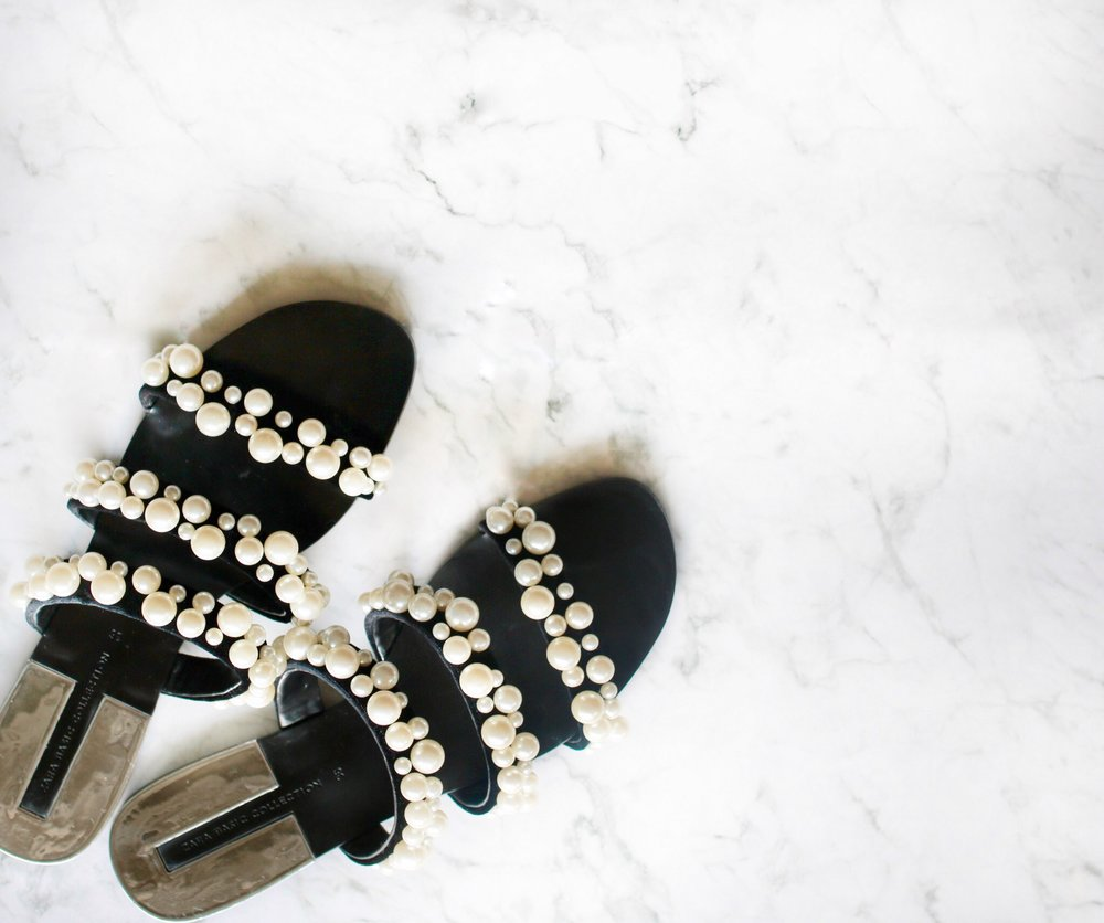 Zara Pearl Sandals