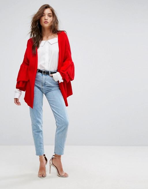 Cardigan Rojo